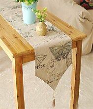 Sucastle® Leinen 30x140cm Tischläufer Hochzeit