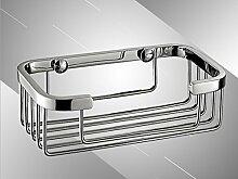 Sucastle,Quadrat, Korb, Regal, Single, Edelstahl, Spiegel, Bad? rostfreier Stahl,Silber,QWERT,250*60*60mm