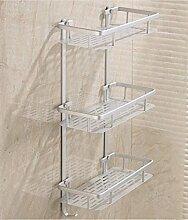 Sucastle,Raum Aluminium, leicht, matt, drei, Aluminium, Regale?Raum Aluminium,Silber,QWERT,