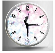 Sucastle Tanzen, Individualität, Uhren, elegant, kreativ, Metall, Wanduhr (ohne Batterie) GXCF