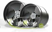 SUCCSALE - Hochwertiger AirRoxy Axialer Rohrventilator Ø 350 mm 1850m³/h Rohrlüfter Lüfter Hochdruck Ventilator Abluft Gebläse Metall Radialventilator