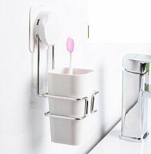 Sucker Tumbler Set Kunststoffbecher Wasch kreative Zahnbürstenhalter Pinsel Tasse-A