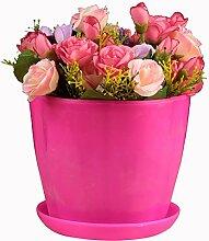 SUDOOK Kunststoff Pflanze Blumentopf mit