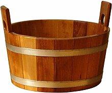 SudoreWell® Sauna Fußwanne aus Kambalaholz mit Hygieneversiegelung