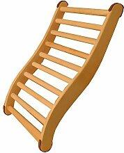 SudoreWell® Sauna Rückenlehne - 2-seitig ergonomisch geformt + gratis 10g Mentholkristalle