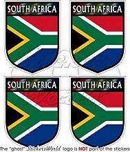 Südafrika-Aufkleber, 5,1cm, für Helm, 4 Stück