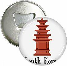 Südkorea der rot Brick Tower rund Flaschenöffner