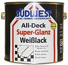 Südwest Weißlack All-Deck Super Glanz Türen