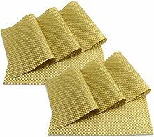 SueH Design Platzsets / Tischsets 8er Set Vinyl 45 * 30 CM Gold
