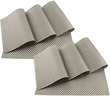 SueH Design Platzsets / Tischsets 8er Set Vinyl 45 * 30 CM Grau