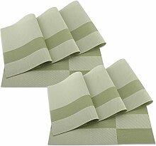 SueH Design Platzsets / Tischsets 8er Set Vinyl 45 * 30 CM Grün