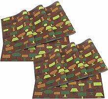 SueH Design Platzsets / Tischsets 8er Set Vinyl 45 * 30 CM Impressionis