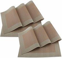 SueH Design Platzsets / Tischsets 8er Set Vinyl 45 * 30 CM Ro