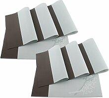 SueH Design Platzsets / Tischsets 8er Set Vinyl 45 * 30 CM Teal