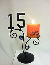 SünGross Leuchter Happy Birthday (15. Geburtstag)
