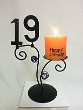 SünGross Leuchter Happy Birthday (19. Geburtstag)