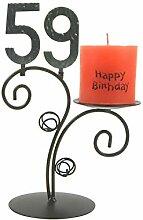 SünGross Leuchter Happy Birthday (59. Geburtstag)