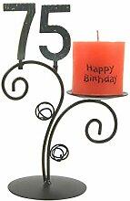 SünGross Leuchter Happy Birthday (75. Geburtstag)