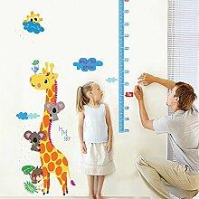 Süße Giraffe Messen Höhe Paste Kinderzimmer