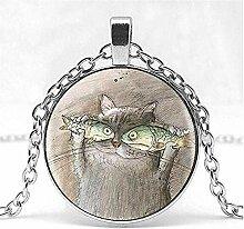 Süße Katze Fisch EIN Porträt süße lebendige