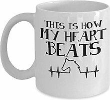Süße Pferdebecher - so schlägt mein Herz Kaffee