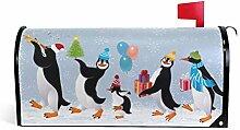 Süße Pinguine magnetische Briefkasten-Abdeckung,
