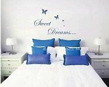 Süße Träume Butterlies Schlafzimmer Wandsticker Aufkleber Kinderzimmer Schmetterling - Rosa Glanz