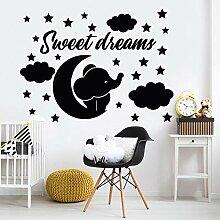 Süße Träume von Wandaufklebern Sternenhimmel