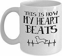 Süße Wiener Hundebecher - so schlägt mein Herz