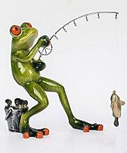 Süßer Frosch ~ Angler stehend ~ Deko Figur