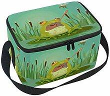 Süßer Frosch-Figurenjagd Lunchbox-Tasche,