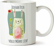 """Süßer Kaffeebecher bedruckt Motiv """"Hab dich"""
