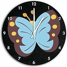 Süßer Schmetterling Schwarz, Wanduhr Durchmesser
