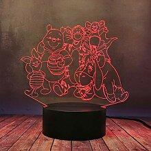 Süßes Cartoon-Geschenk, Nachtlampe, Winnie Puuh,