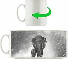 süßes Elefantenbaby mit Elefantenmama Kunst