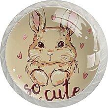 Süßes Kaninchenmuster 4 Stück