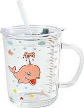 Süßes Kinder Strohhalm Glas - 400ml Mehrwegglas