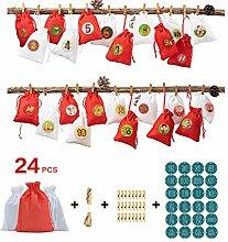 Süßigkeitentüte Weihnachten, 24 Stück/Set