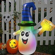 SUFUBAI Aufblasbarer Halloween-Schneemann-Becher,