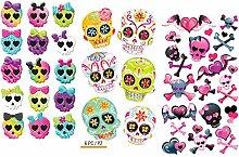 Sugar Skull Aufkleber | Sticker Set mit bunten
