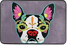 Sugar Skull Dog Fashion Memory Foam Fußmatte,