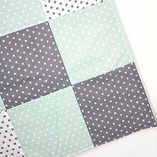 Sugarapple DIY Paket Patchwork Decke zum Selber