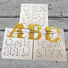 Sugarcraft Silikonform Großbuchstaben Kuchen