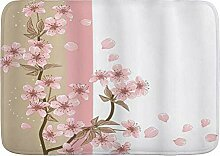 SUGARHE Badematte,Japanisches Sakura rosa