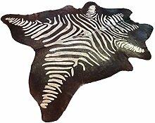 Suggaloaf XXL Kuhfell Braun mit goldenem Zebra