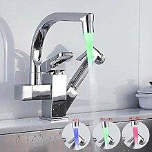 Suguword Küchenarmatur LED Wasserhahn mit
