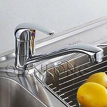 SUHANG Alle Kupfer Single Küche Wasserhahn Schwenkbare Waschbecken Armatur Waschbecken Wasserhahn Griff