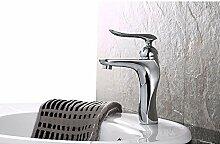 SUHANG Becken Einzigen Griff Einloch Mischbatterie Alle Kupfer Warmes Und Kaltes Tippen Sie Auf Bad Armatur