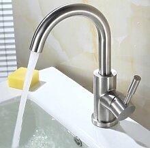 SUHANG Drehhalterung Aus Edelstahl Waschbecken Küche Wasserhahn Waschtisch Armatur Einloch Becken