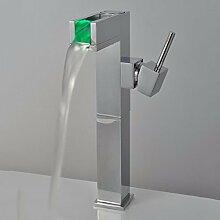 SUHANG Mit Den Led-Leuchten Keine Stromversorgung Light-Emitting Wasserhahn Schwenkbar Wrench-Temperature Control Verfärbung Angehoben Becken Faucetbathroom Waschbecken Wasserhahn